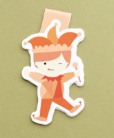 Court Jester Jumbo magnetic bookmark