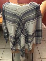 Lightweight knit poncho