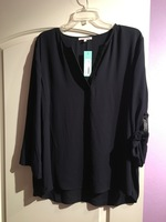 41Hawthorn Woodling faux leather detail blouse