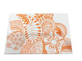 Orange Pattern Letterpressed Postcard