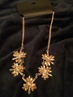 Modcloth Gold Burst Statement Necklace