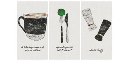 Set of 3 Kitchen Prints for Happy Rebel Box