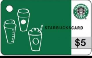 Starbucks gift card $5