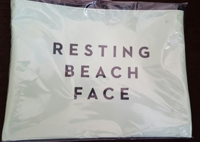 "MILLY ""Resting Beach Face"" Zip Pouch"
