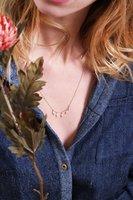 Tassia Canellis cultured pearl necklace - silver chain