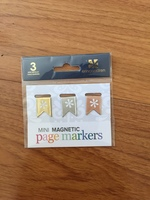 Mini magnetic page markers