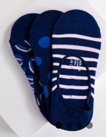 Richer Poorer No-Show 3-Pack Socks in Blue