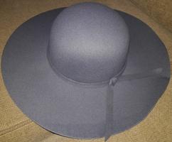 Gray Wide Brim Hat