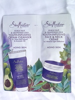 Shea Moisture Kukui Nut & Grapeseed Oil Youth-Infusing Cream Cleanser & Face & Neck Cream