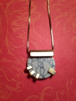 Cate & Chloe Gold and Marble Necklace