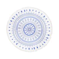 Gypsy 05 Roundie in Indigo Geometric