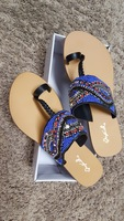 Qpid brand size 8 beaded sandals
