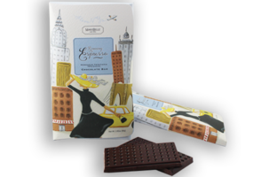Marie Belle Running Espresso 70% cacao chocolate bar