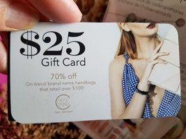 $25 gift card, no expiration date