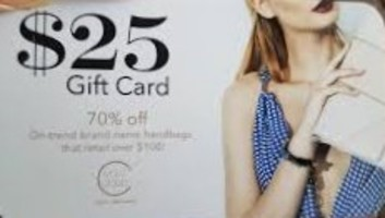 Ivory Clasp Handbag Subscription $25 gift card, No exp. date