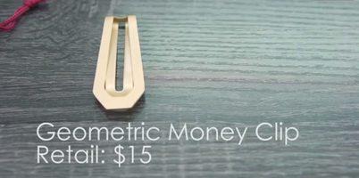Geometric Money Clip