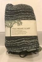 Marquet Fair Trade Free Weave Scarf - Charcoal Fusion