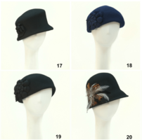 Giovannio Wool Felt Hat #19 bottom left in pic
