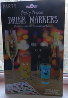 PARTY PEOPLE DRINK MARKERS 100 REUSABLE STICKERS