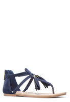 Calista Navy tstrap sandal with tassel size 9.5-10