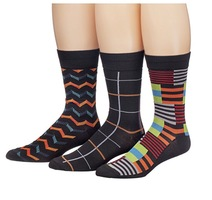 James Fiallo Mens 3 Pack Colorful Patterned Dress Socks