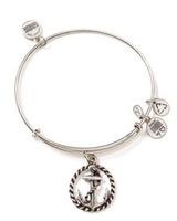 Alex and Ani  216 Bangle Bar Nautical Rafaelian Silver-Tone Expandable Bracelet