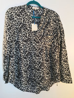 Orange Creek Animal Print Top