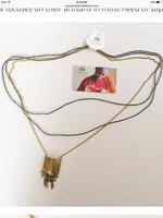 Hammered Brass Necklace, Kenya