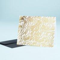 Gold Scribble Foil Card