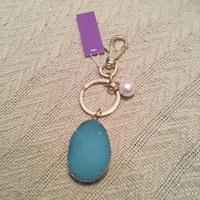 Druzy Turquoise Keychain