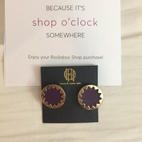 House of Harlow 1960 Gold-Plated Sunburst Button Earrings