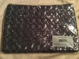 Julep Gunmetal Sequin Clutch / Makeup Bag