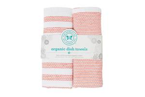 Honest Organic Cotton Dish Towels - Coral
