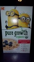 Pure Growth Organic Maple & Brown Sugar Oatmeal 6 Packets