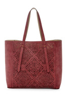 T-Shirt & Jeans Tote in Marsala