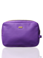 Tarte Purple with Gold Lining Cosmetic Bag