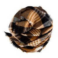Modcloth Loch & Key Blanket Scarf: black/brown