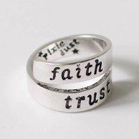 Peter Pan 'faith, trust, pixie dust' Ring