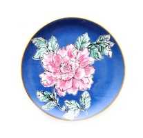 Pink & Black Floral Jewelry Dish from Sweet & Spark