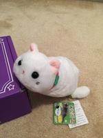 Plush cat pouch