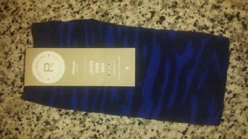 Richer Poorer Crew Sock - Blue Tiger Stripe