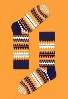 Happy Socks - Zig Zag Orange Navy