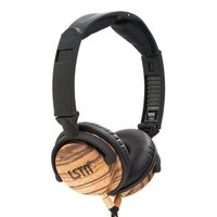 LSTN Fillmore Zebra Wood On-Ear Headphones w/ in-line Microphone, Volume Control