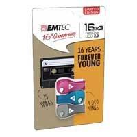 Emtec 3-pack of 16-GB USB flash drives