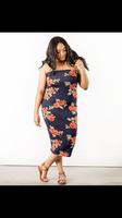 Floral midi bodycon dress