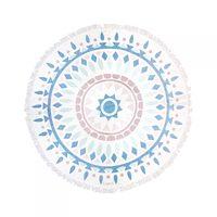 Gypsy 05 Purple/Blue Geometric Roundie