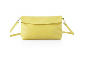 XL yellow ripauste leather bag with strap