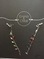 Elsa Earrings -silver/red