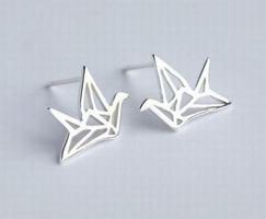 Origami crane studs
