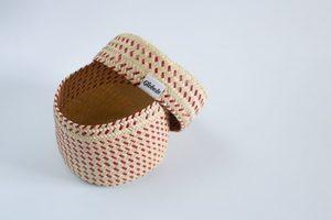 Globein mini handwoven basket with lid